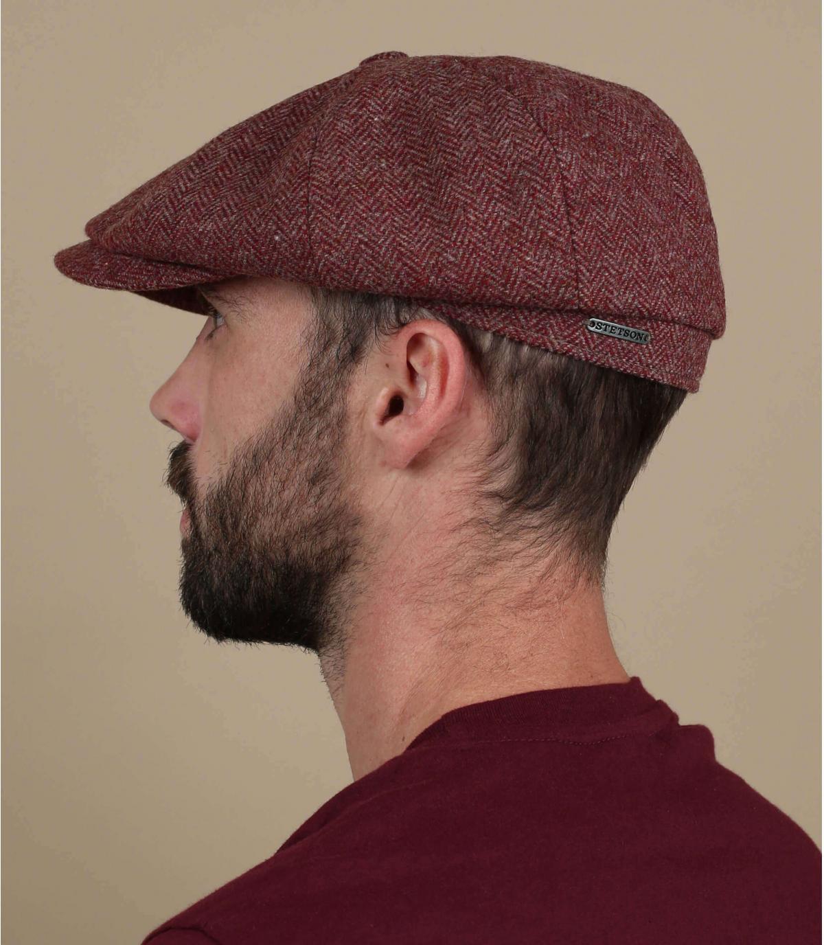 gorra repartidor granate lana