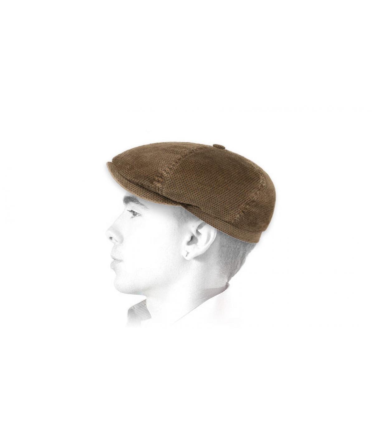 gorra repartidor pana marrón