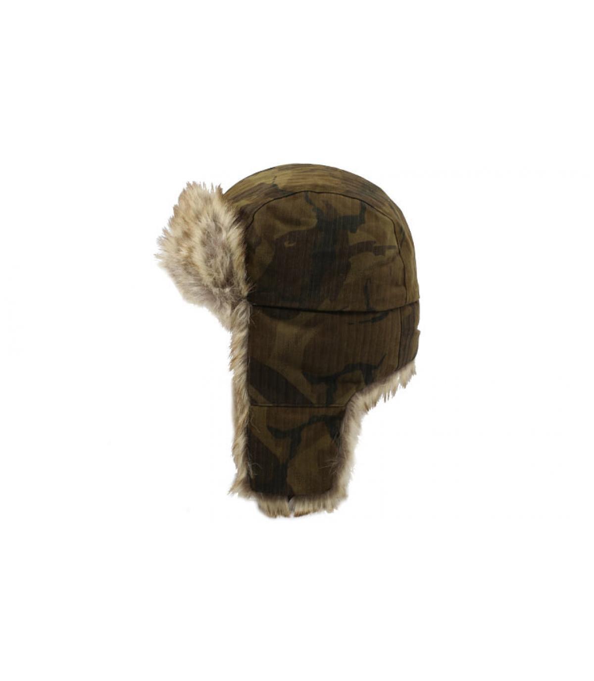 Detalles Bomber Cap Waxed Cotton Camouflage imagen 2