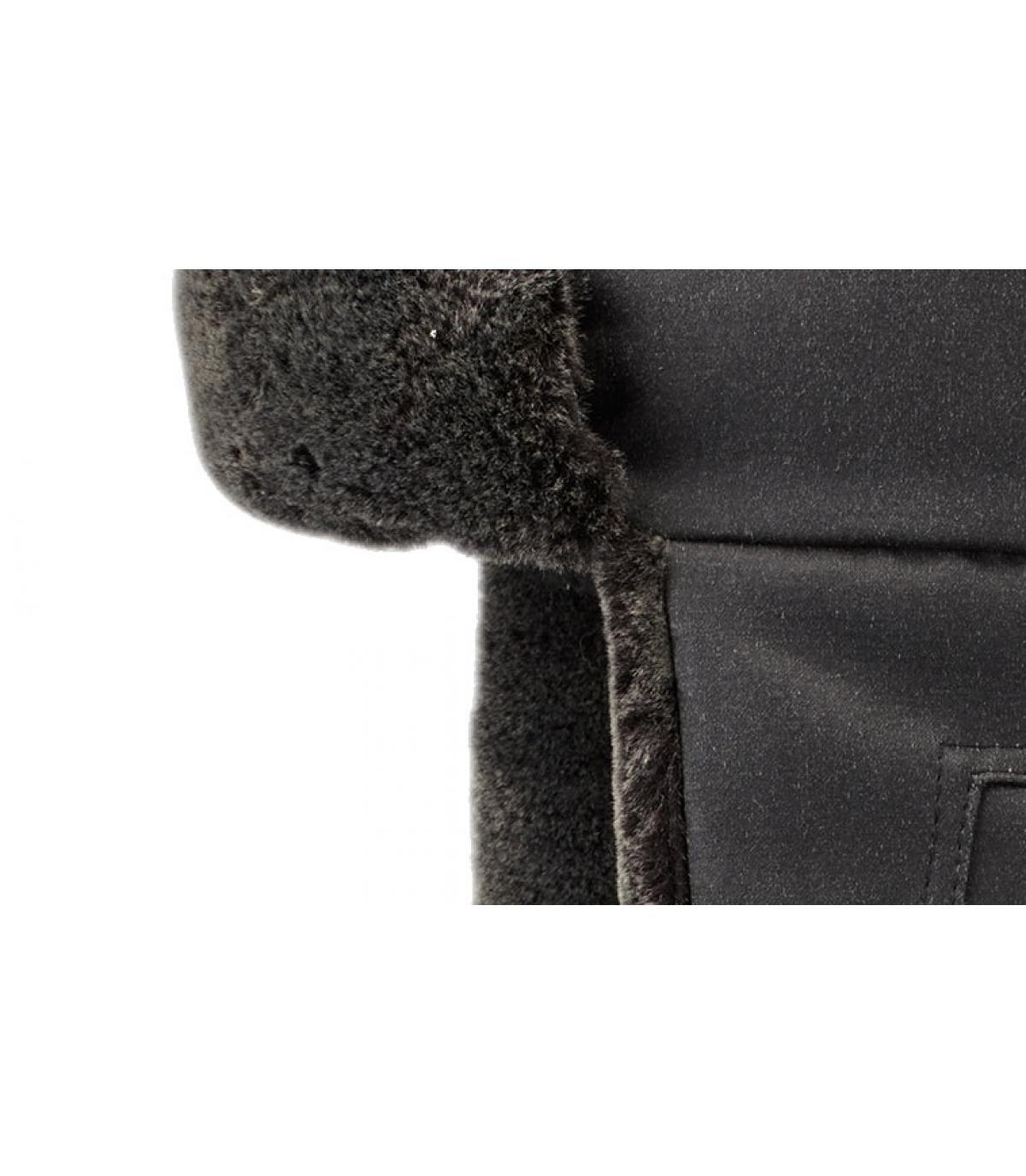 Detalles Bomber Cap CO PE Fake Fur black imagen 3