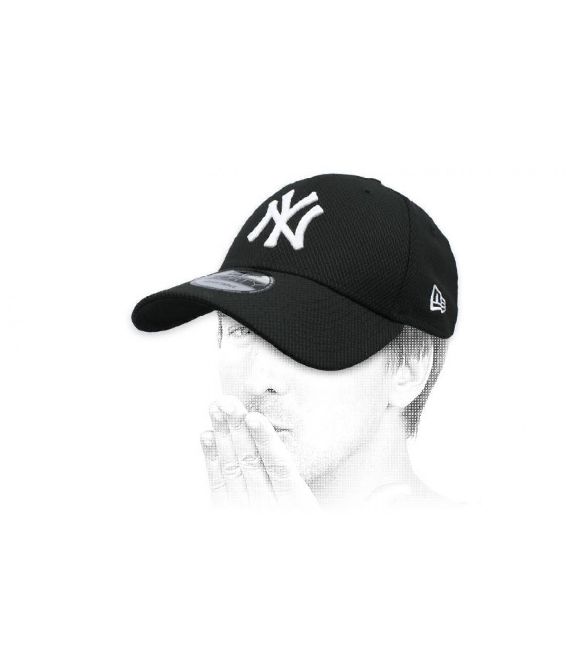 gorra negro NY Diamond