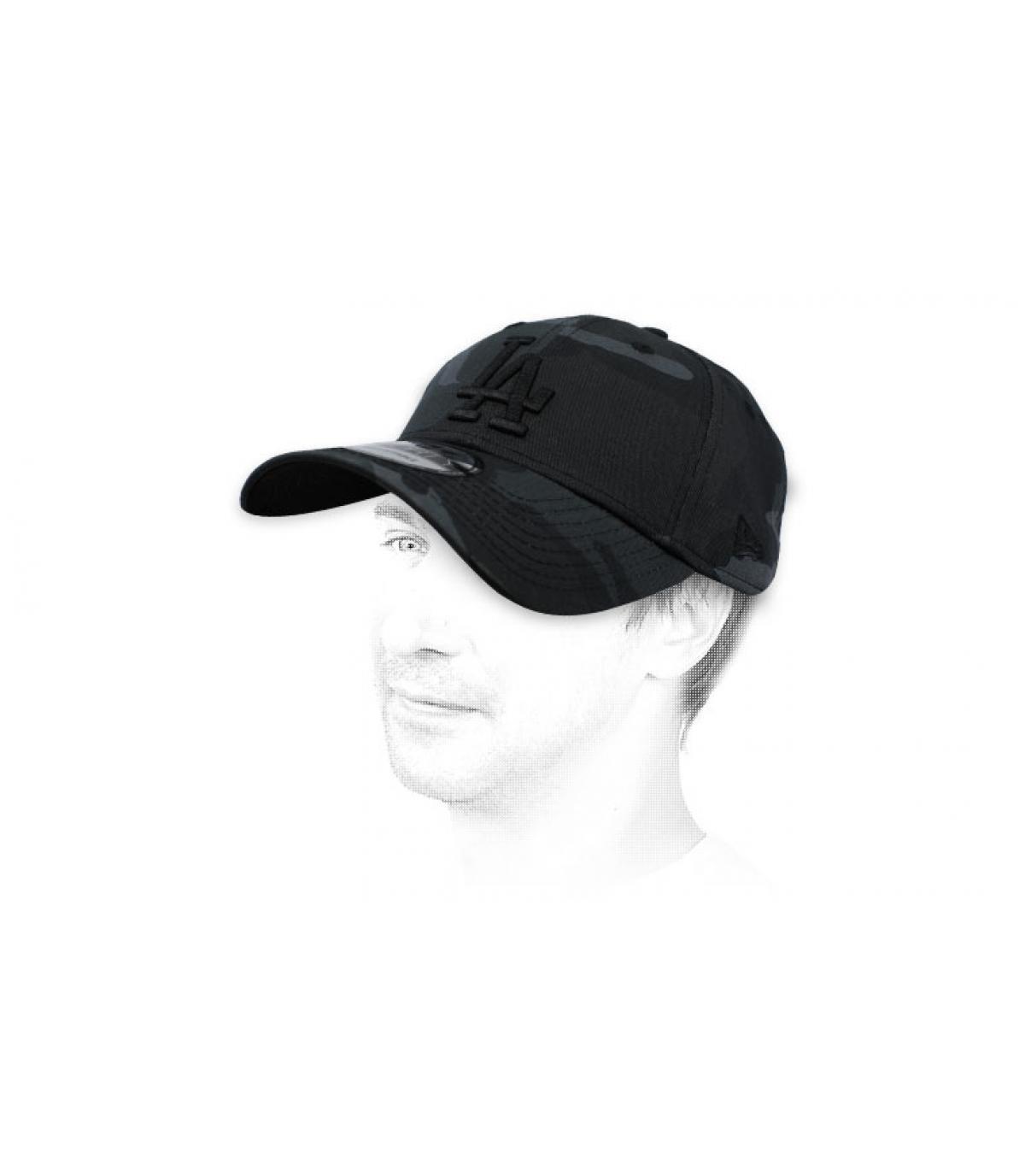 gorra LA camo negro