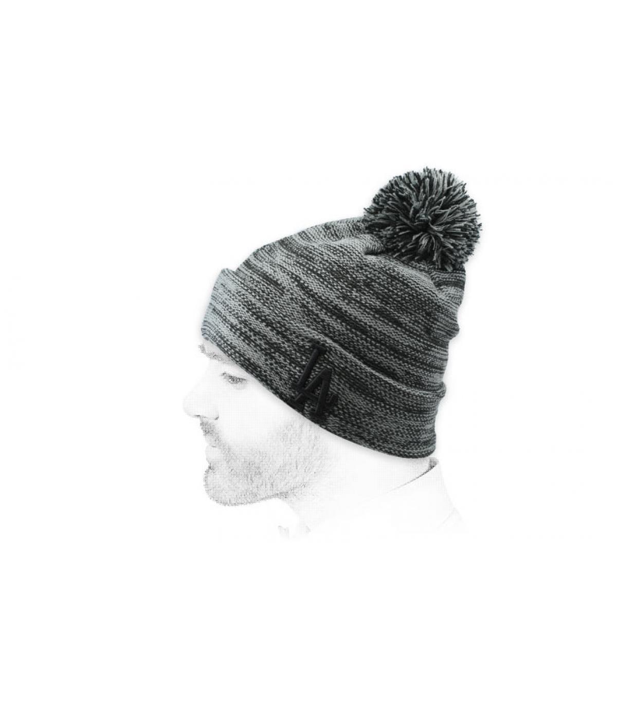 gorra LA gris jaspeado