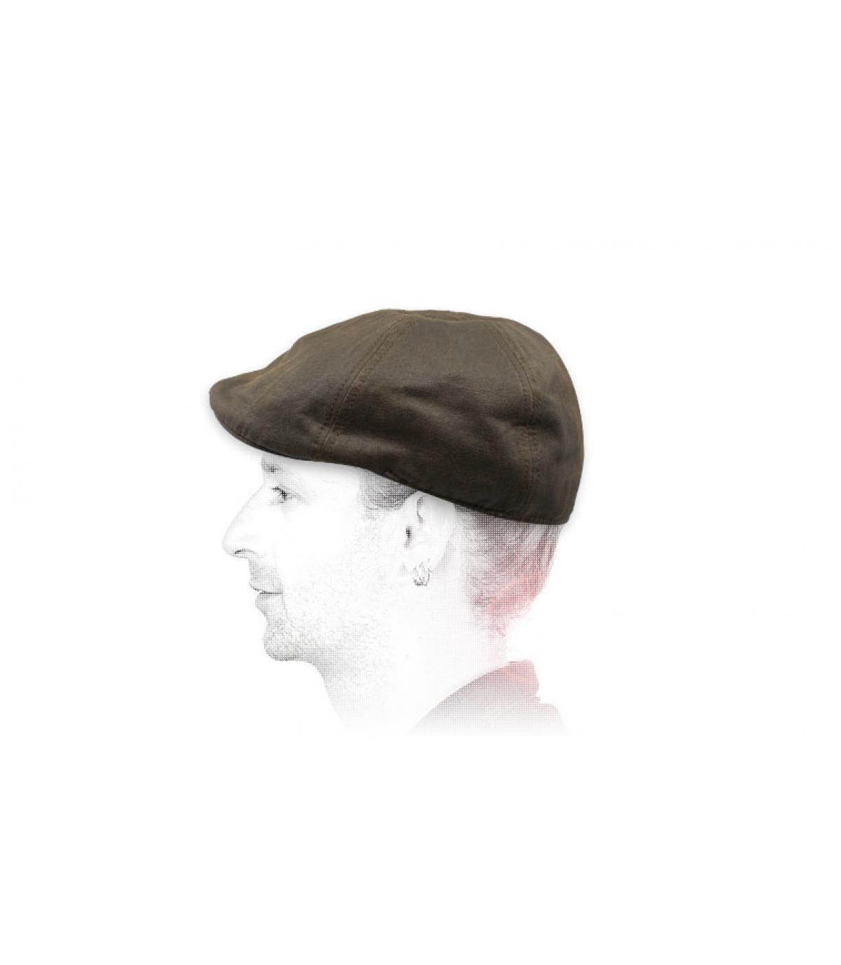 gorra duckbill marrón algodón