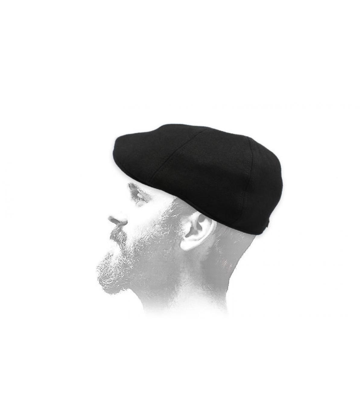 gorra duckbill negro lana