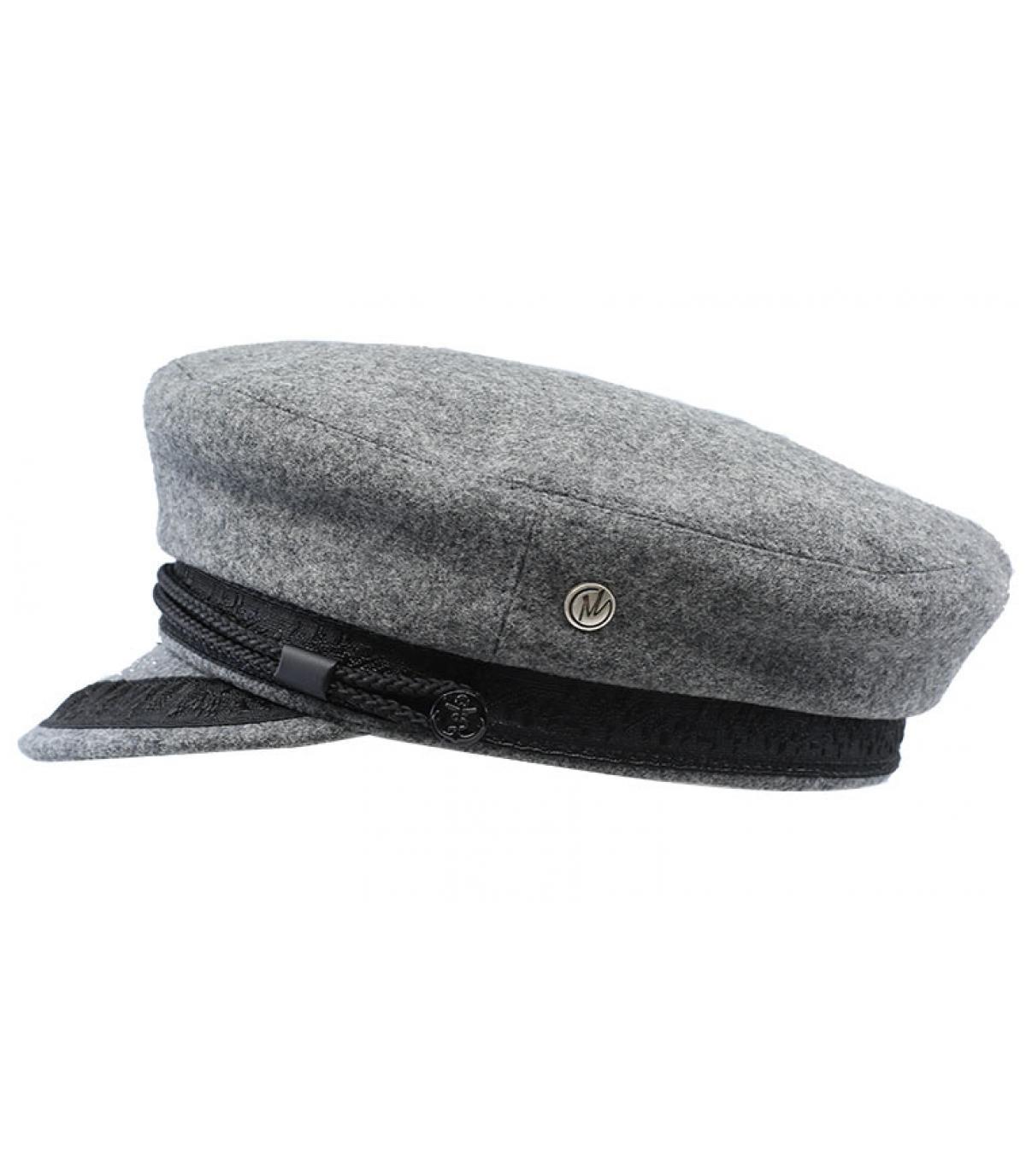 gorra marinera gris claro lana - Clea grey de Modissima. Headict e5a256217d9