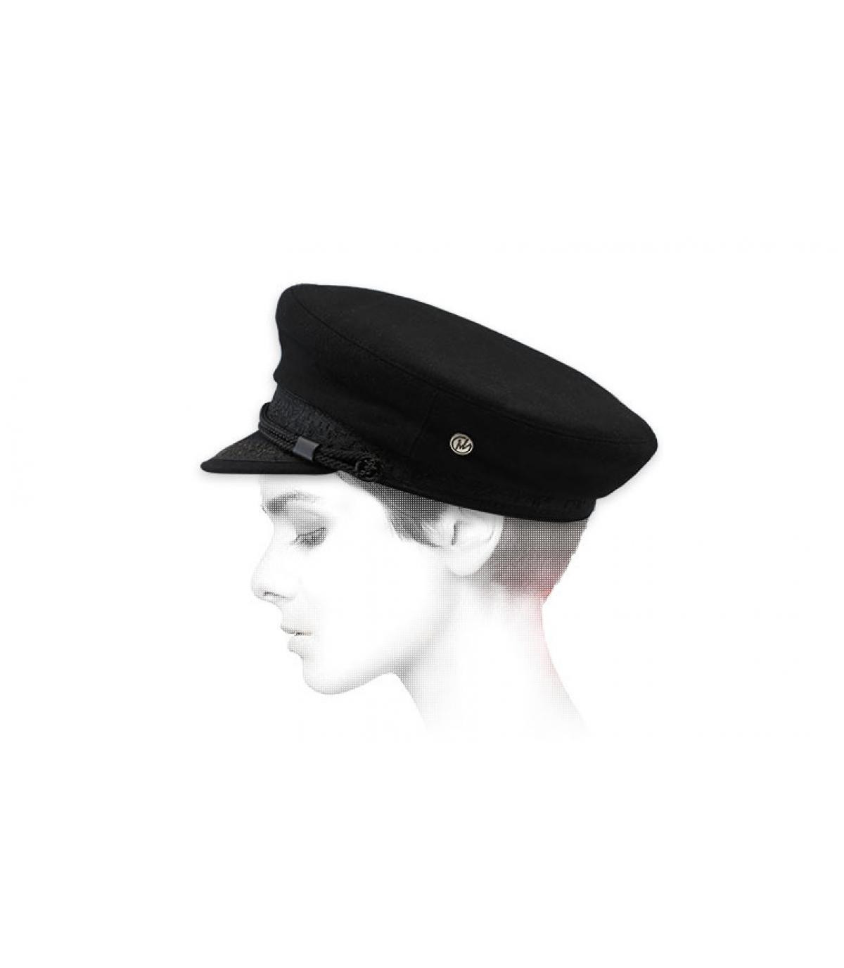 gorra marinera negro lana