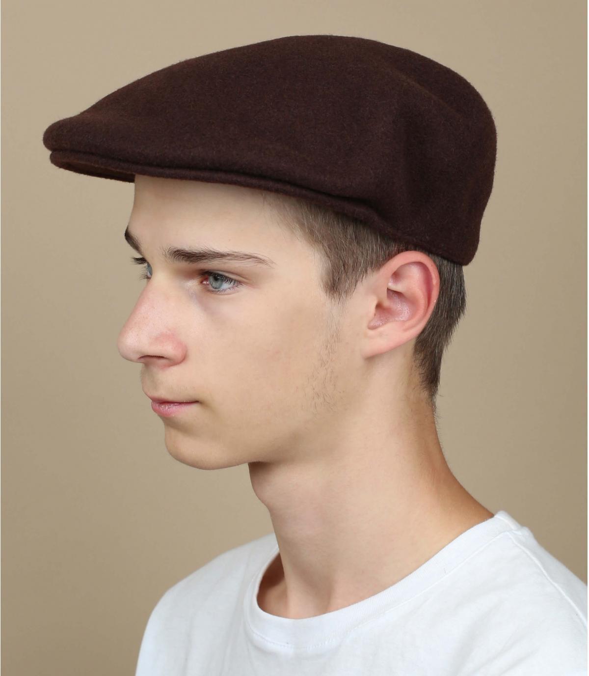 gorra marrón lana Kangol