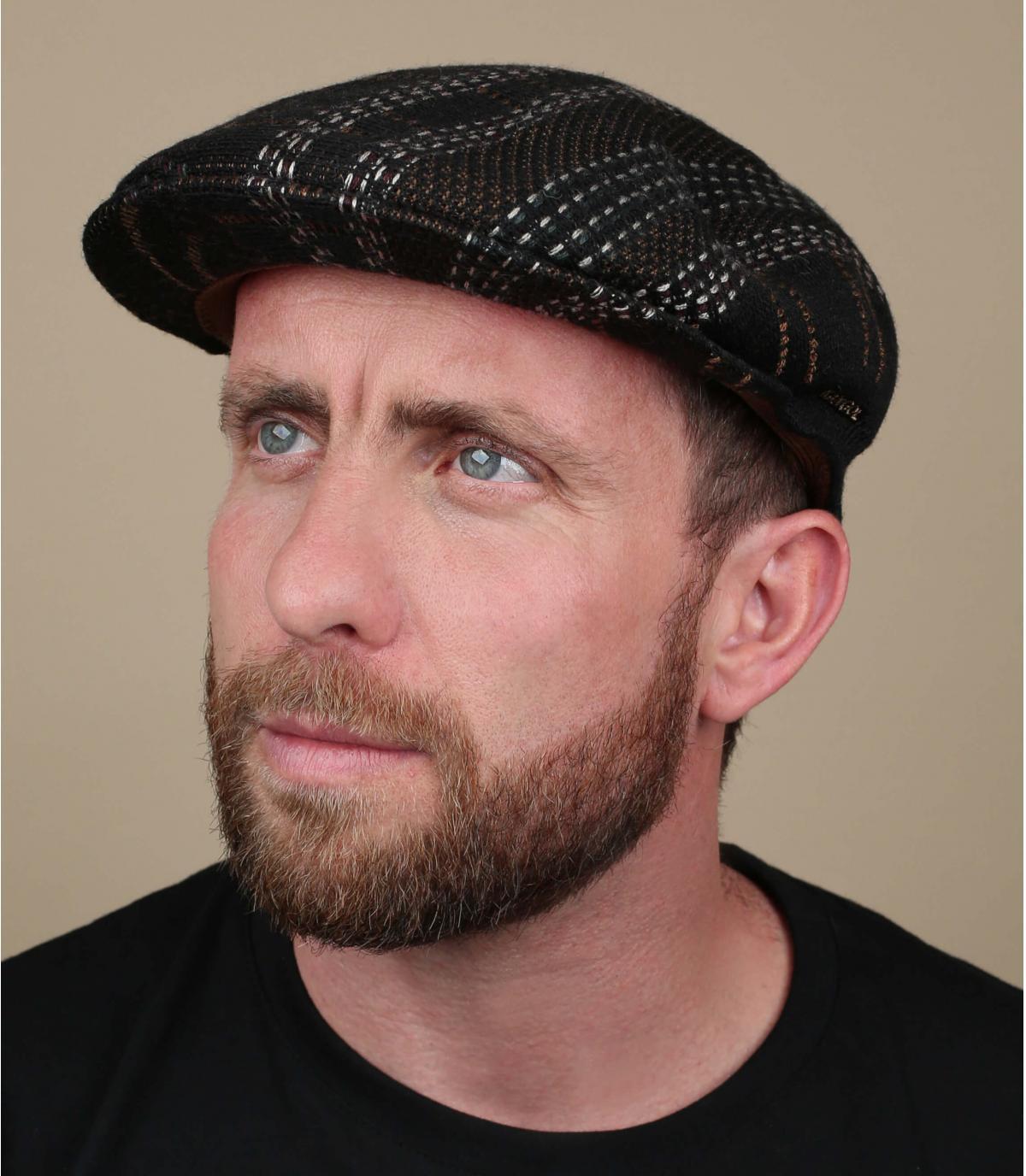 gorra raya Kangol marrón