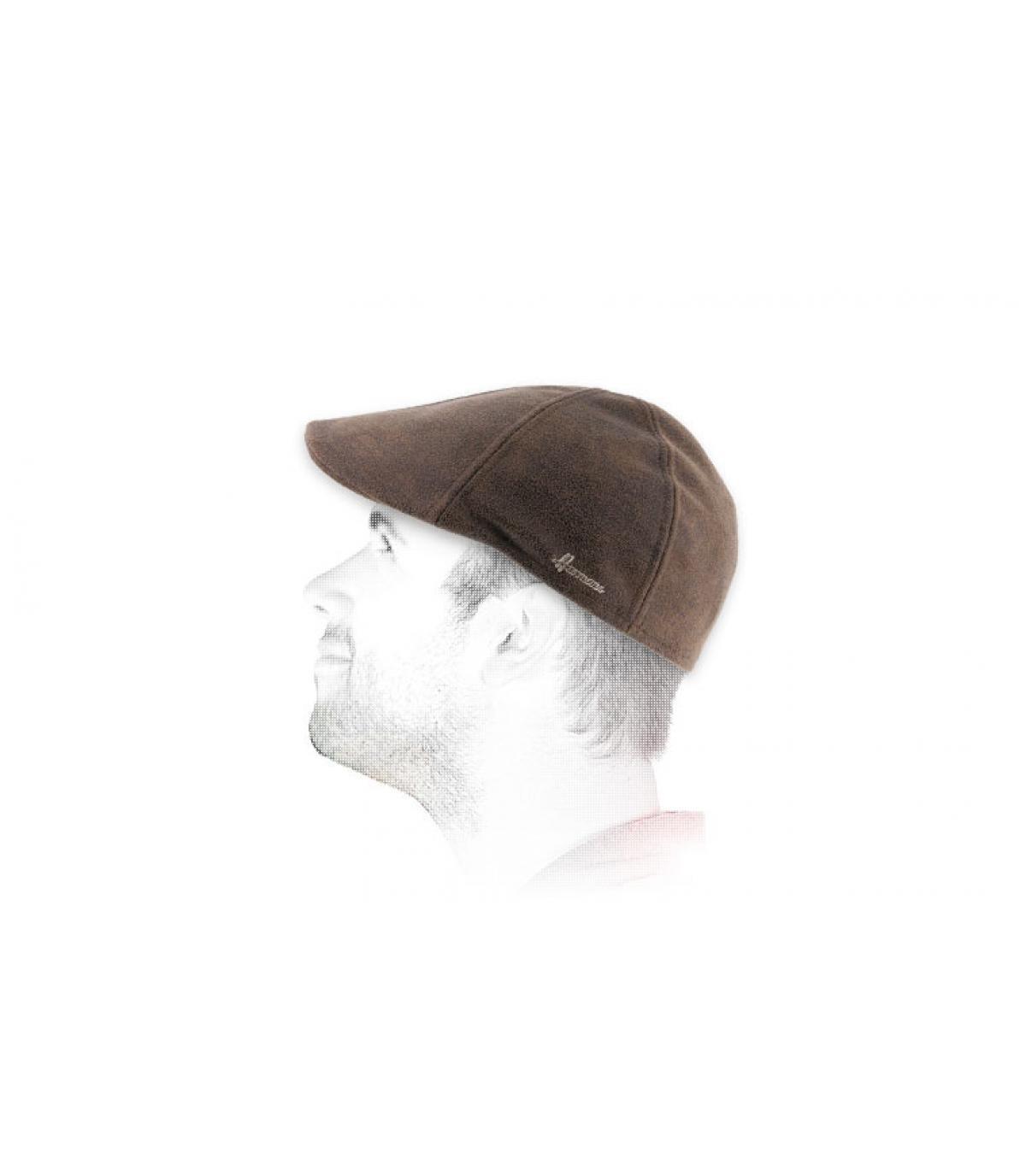 gorra duckbill marrón