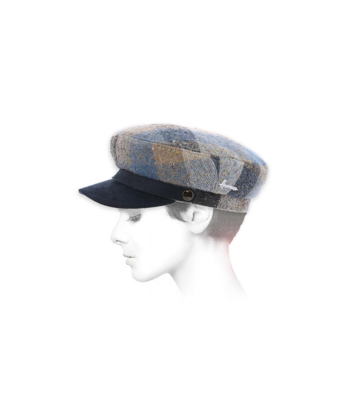 gorra marinera cuadro azul