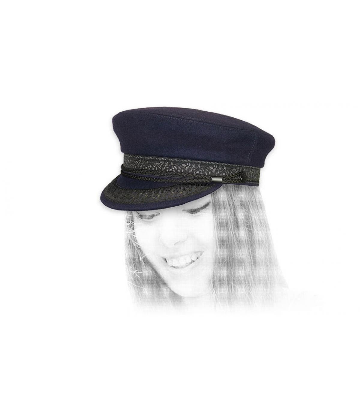 gorra marinera azul lana