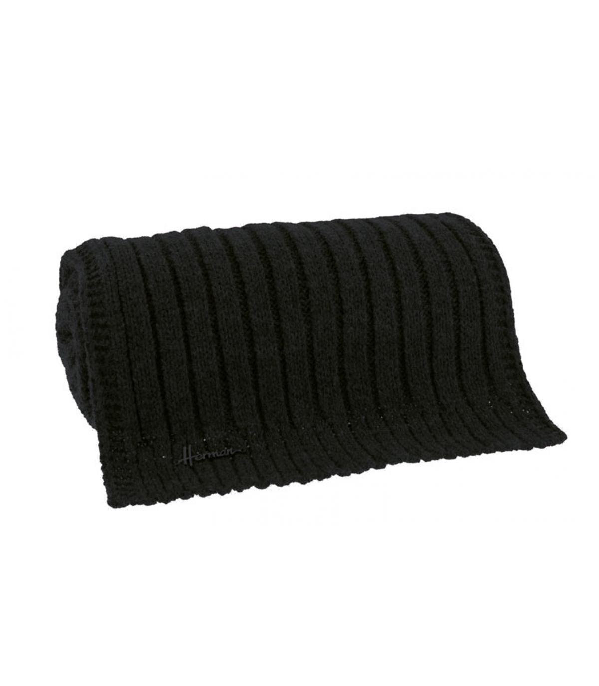 bufanda negro suave