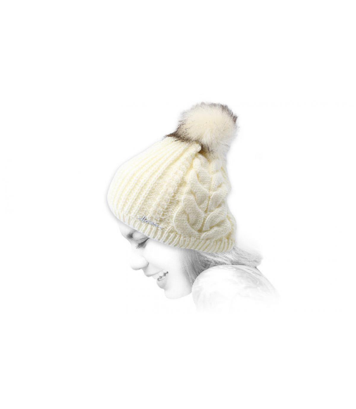 gorro pompón blanco lurex