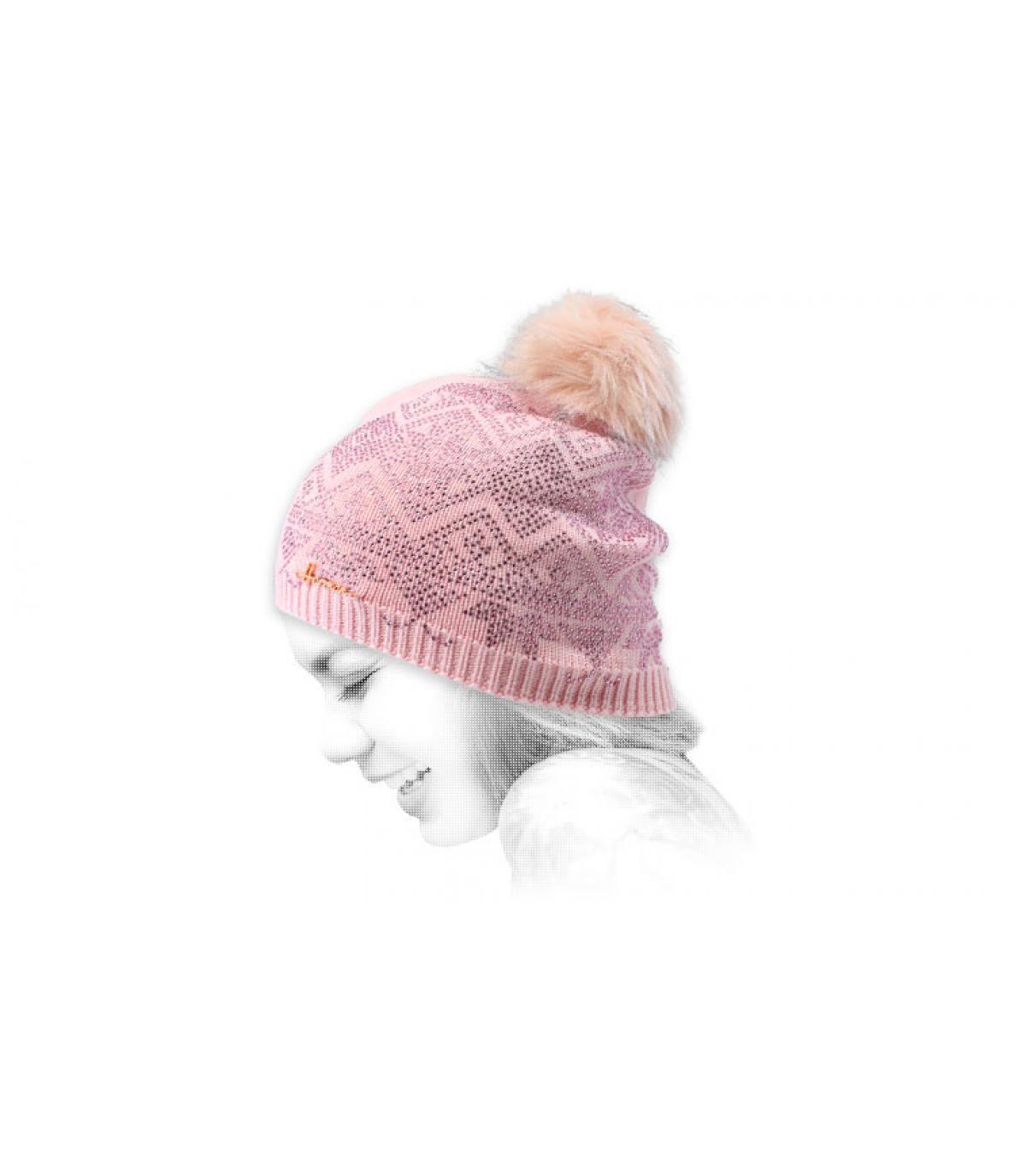 gorro rosa brillante pelo