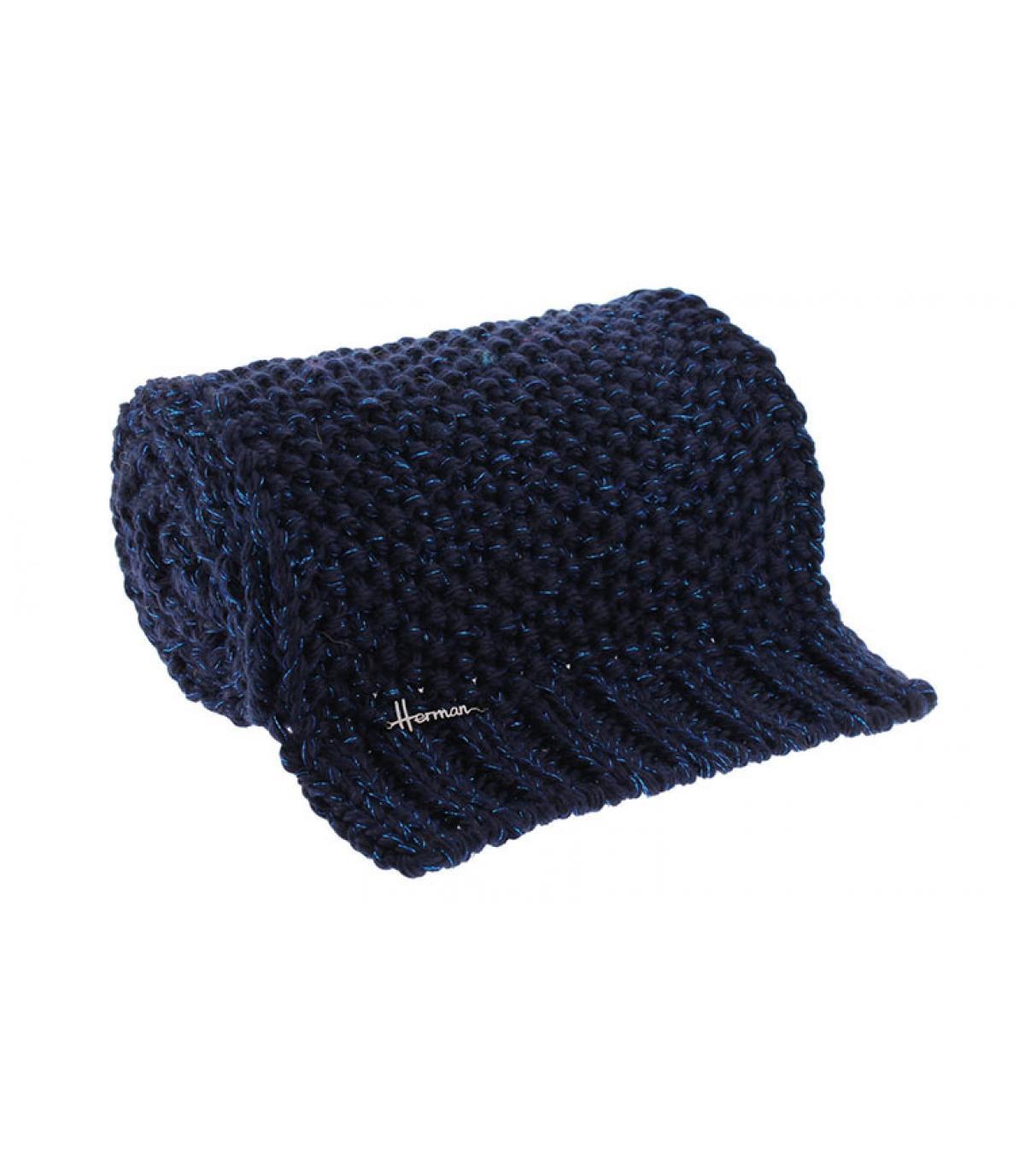 bufanda azul lana lurex