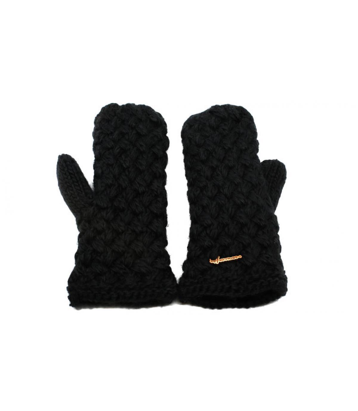 manoplas negro lana