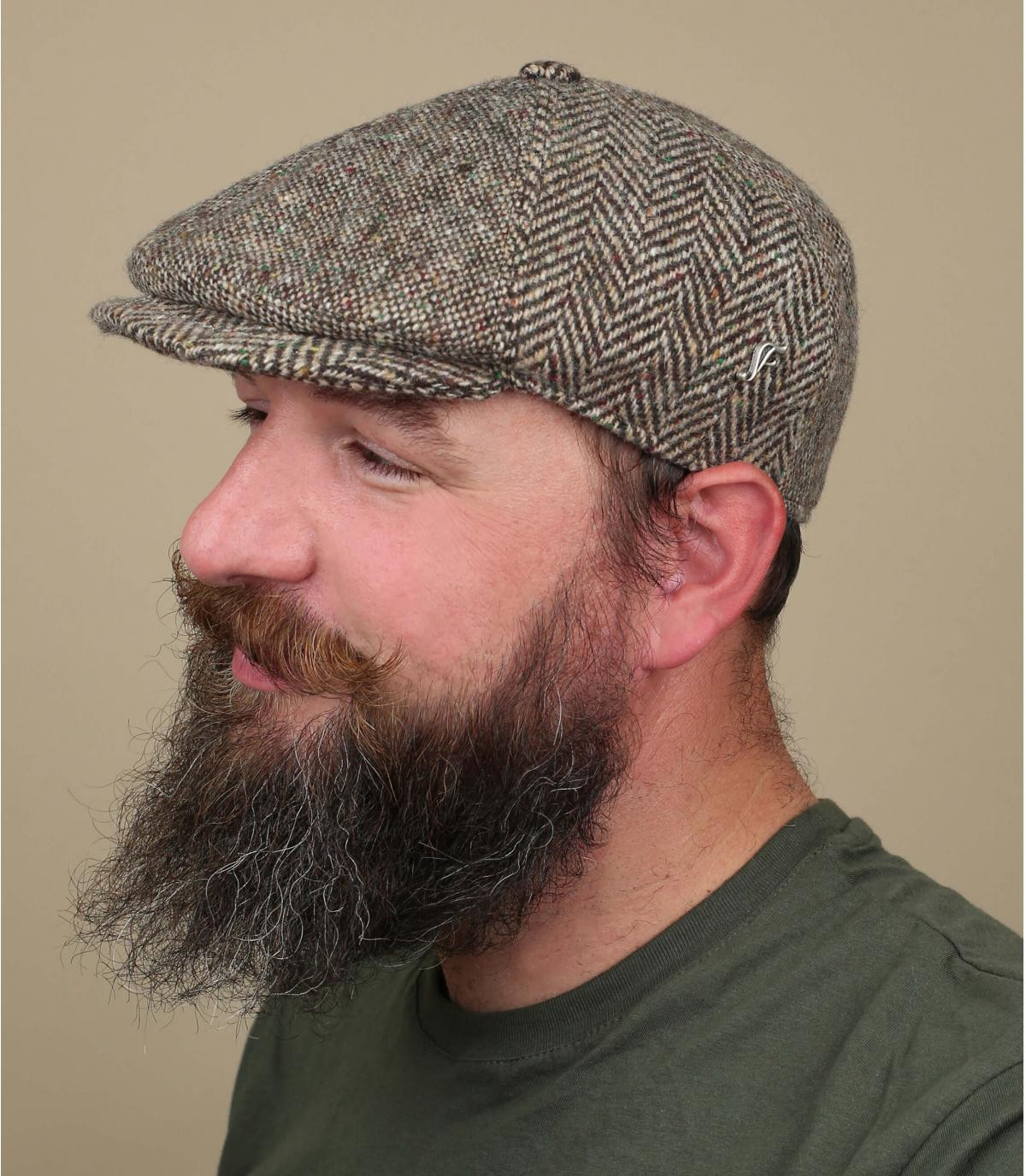 gorra marrón lana