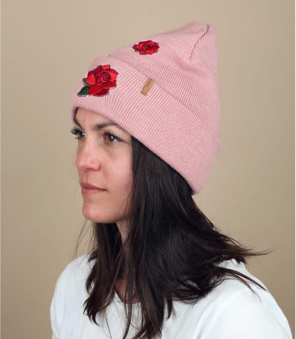 gorro flores rosa Barts