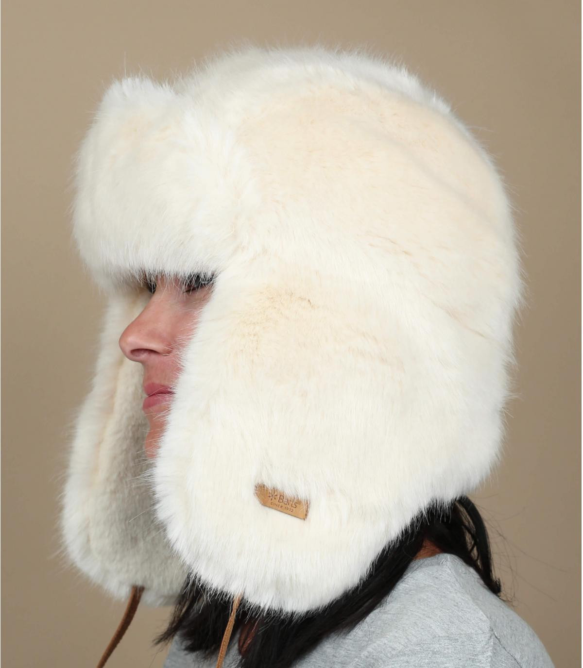 chapka pelo mujer blanco Barts