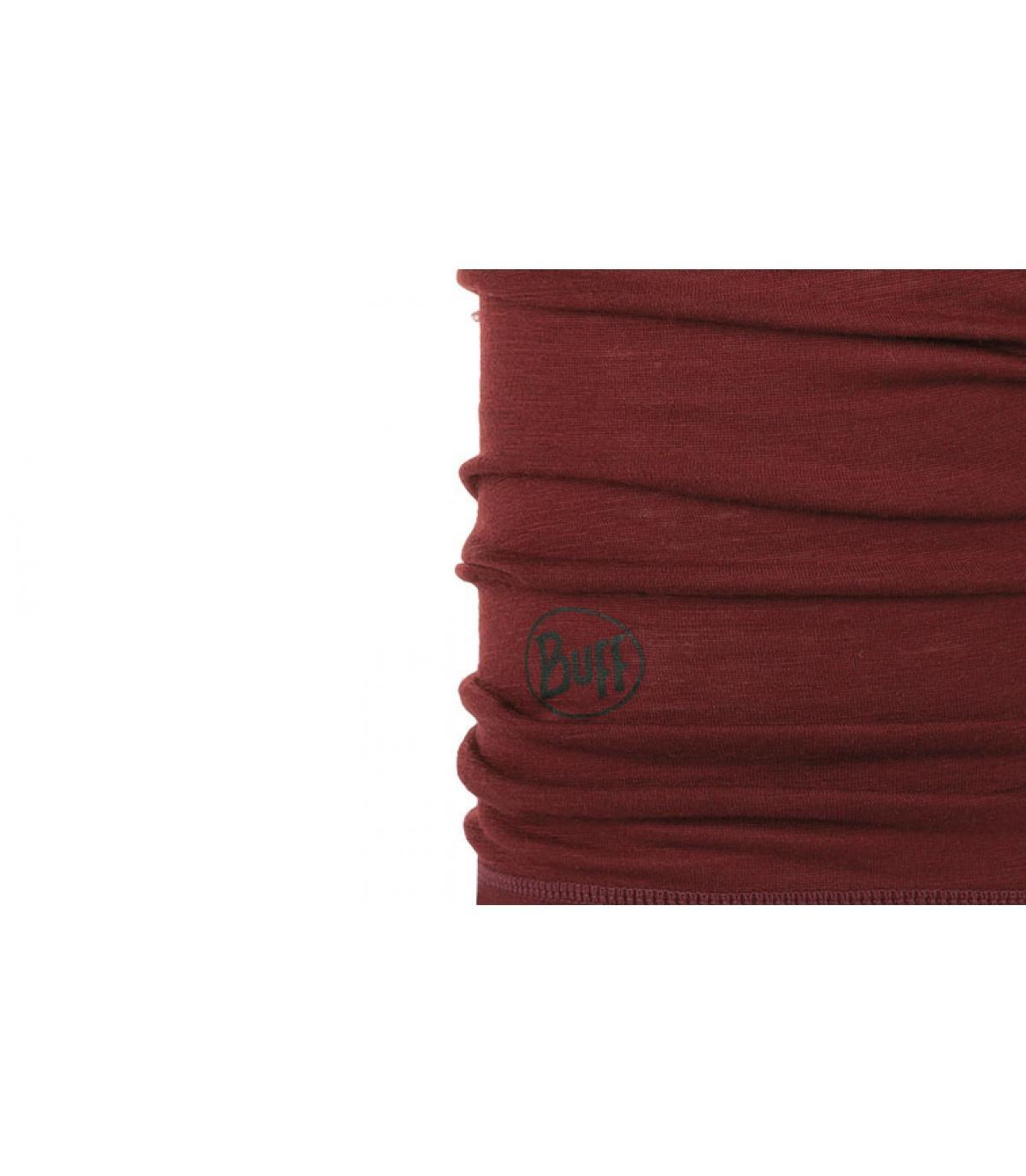 Detalles Lightweight Merino Wool solid wine imagen 2