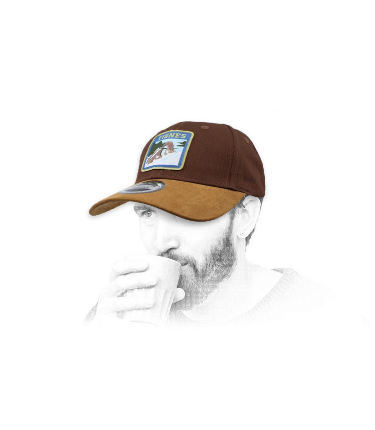 gorra marrón Tignes