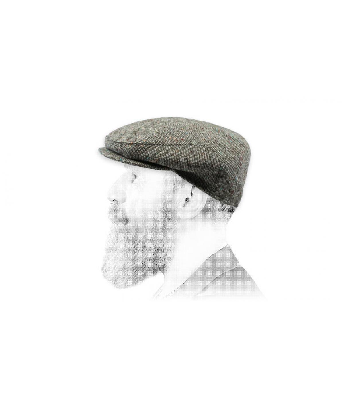 gorra gris lana