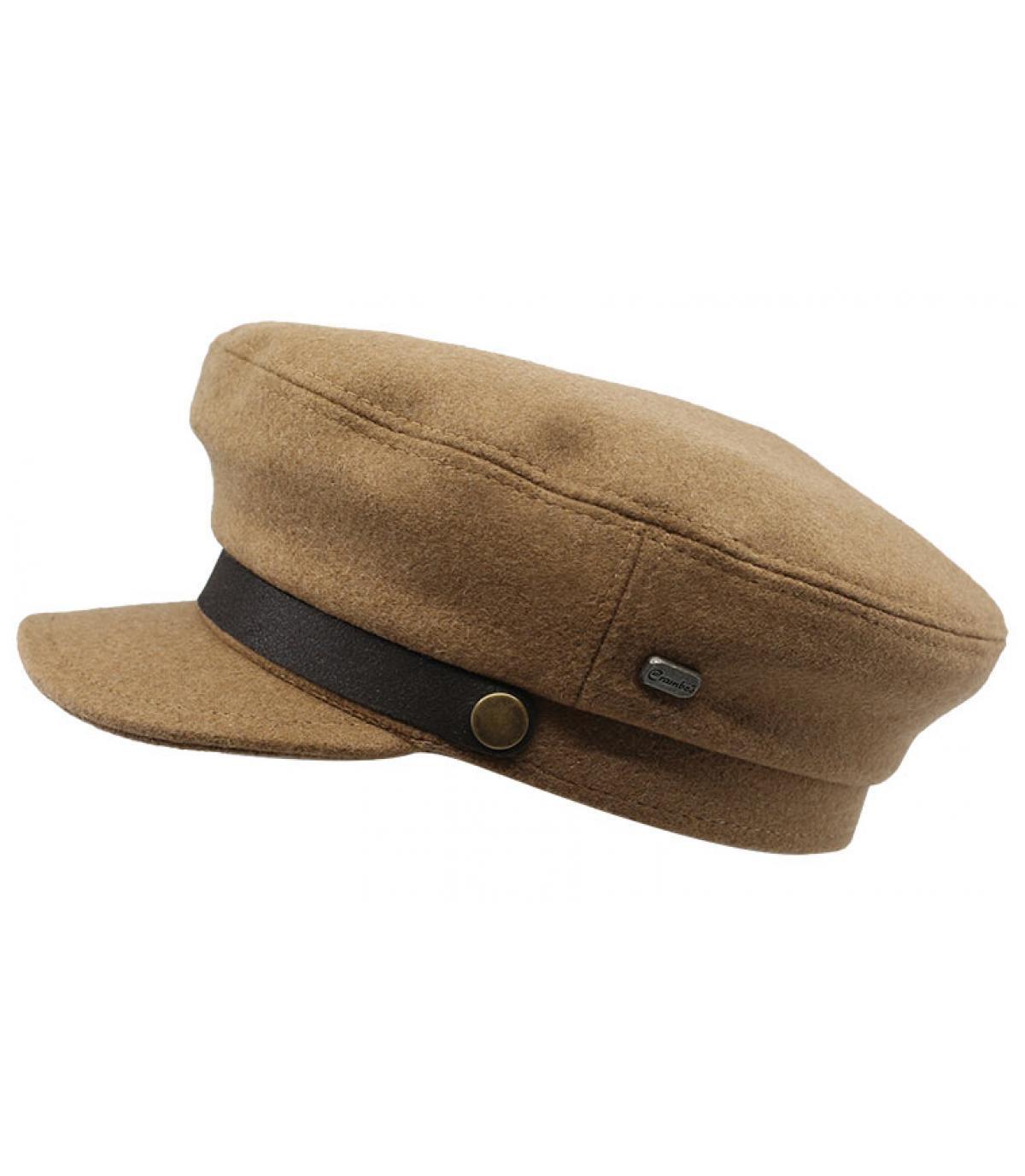 barato para descuento San Francisco ajuste clásico gorra marinera lana beis - Capitain Laine camel en su headwear ...