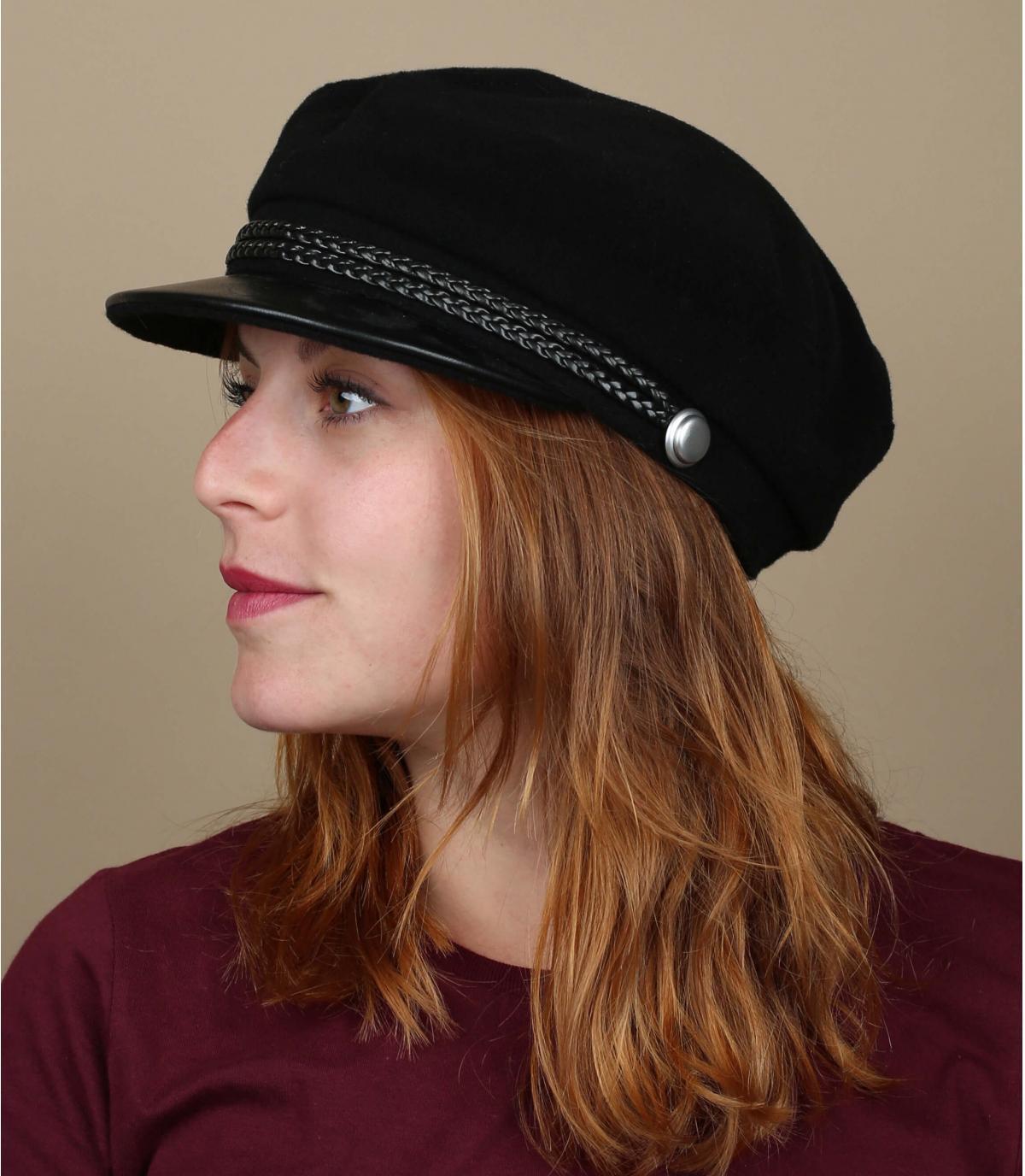 gorra marinera negro