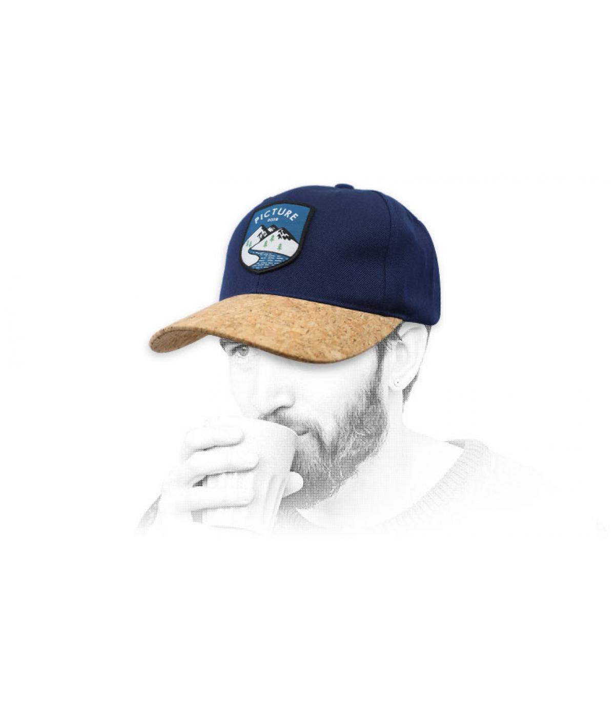 gorra Picture azul corcho