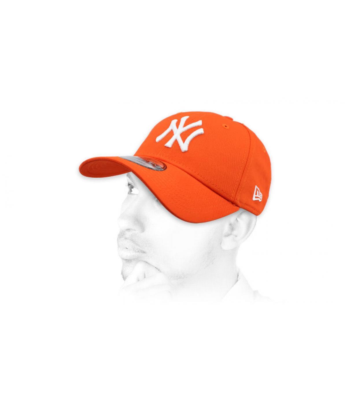 gorra NY naranja
