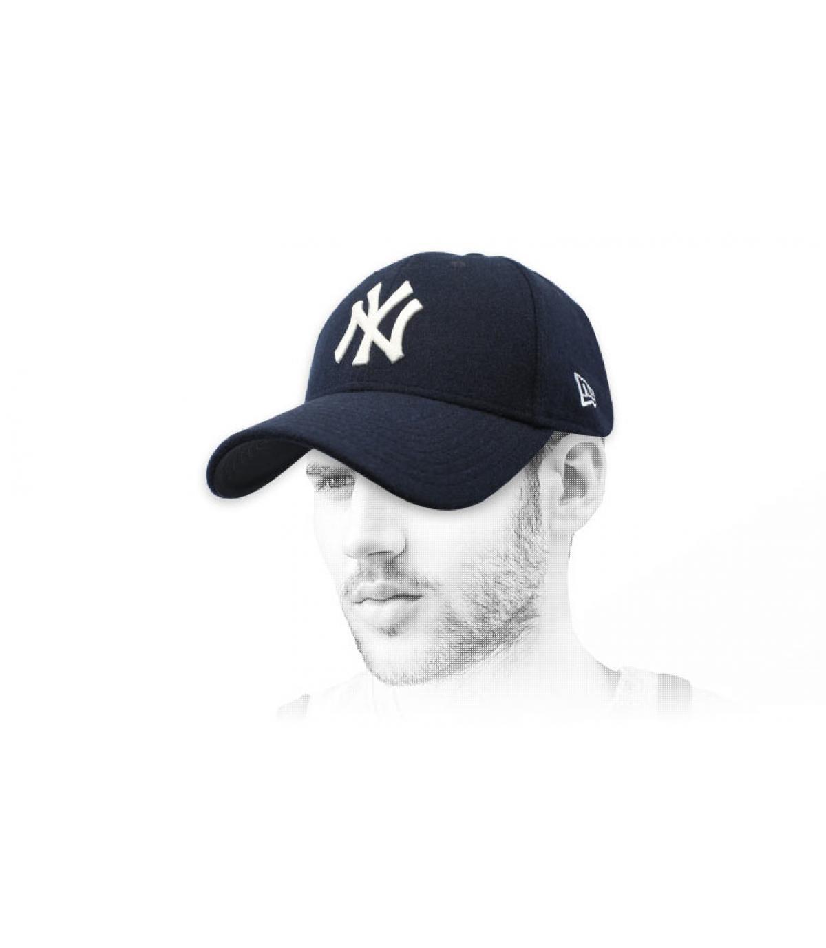 gorra NY azul lana