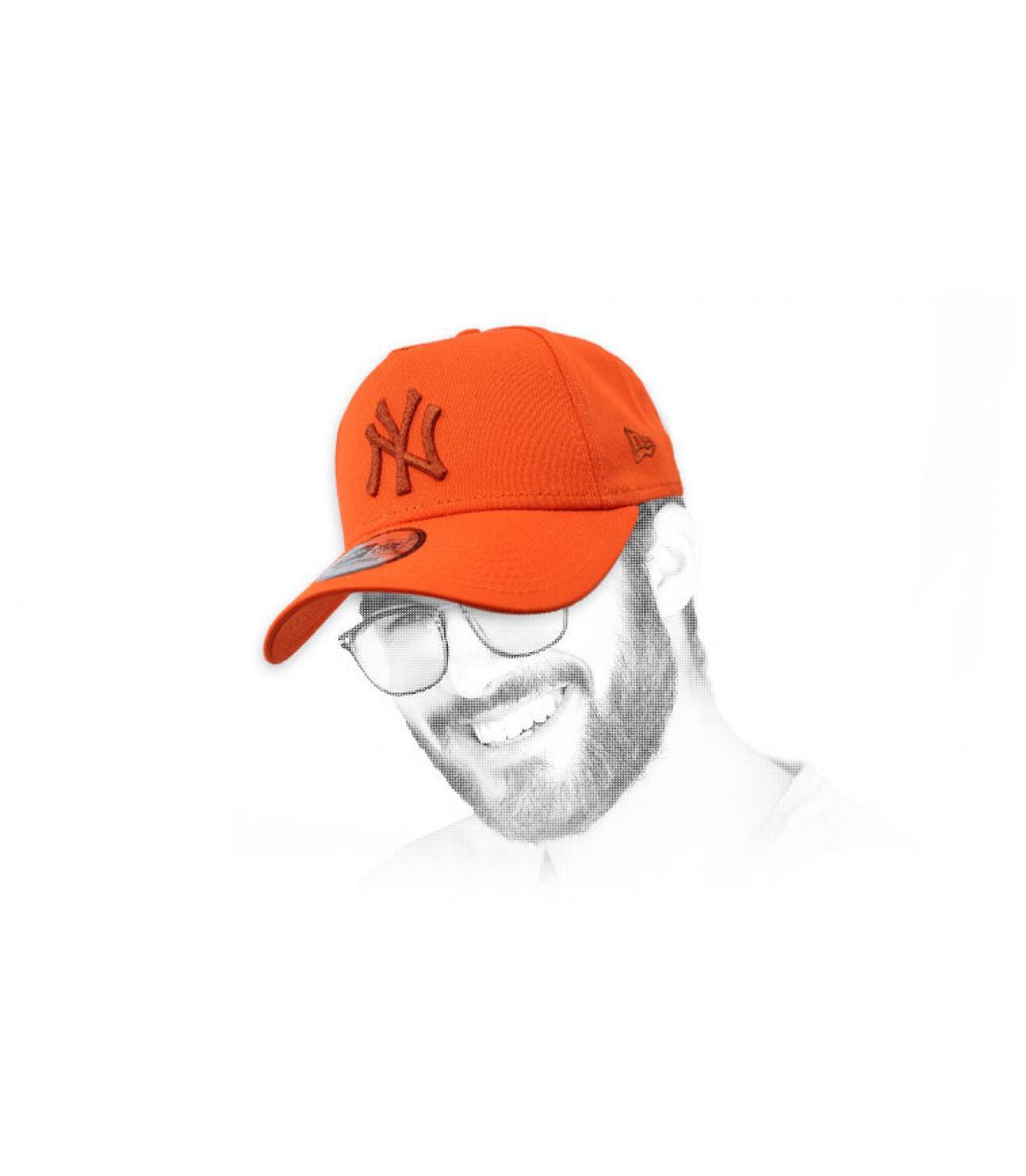 gorra NY naranja Aframe