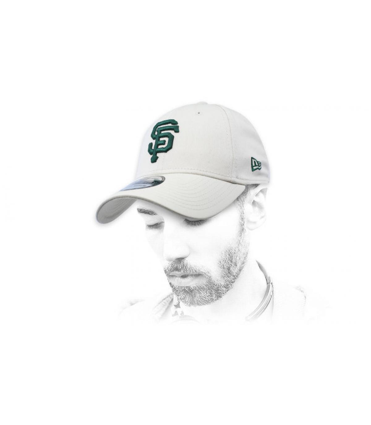 gorra SF gris verde