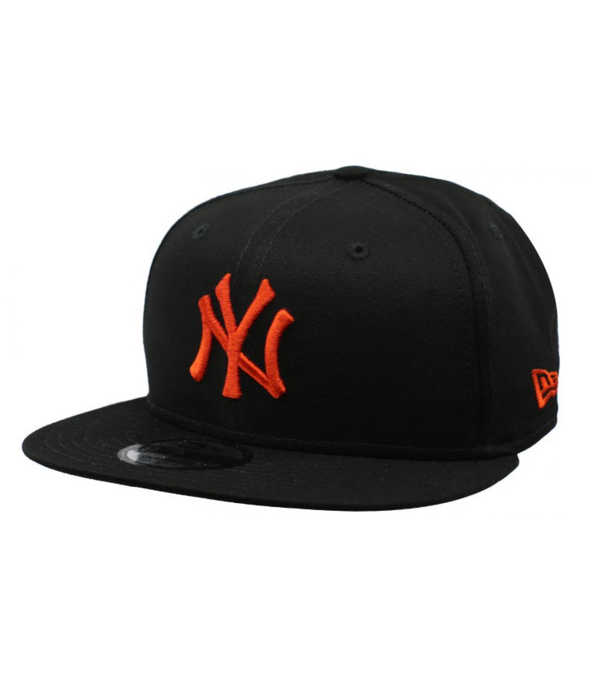 New Era. gorra snapback NY negro rojo. Detalles League Ess NY 9Fifty black  orange imagen 5  Detalles League Ess NY 9Fifty black orange imagen 1 ... e70d2a7ac70