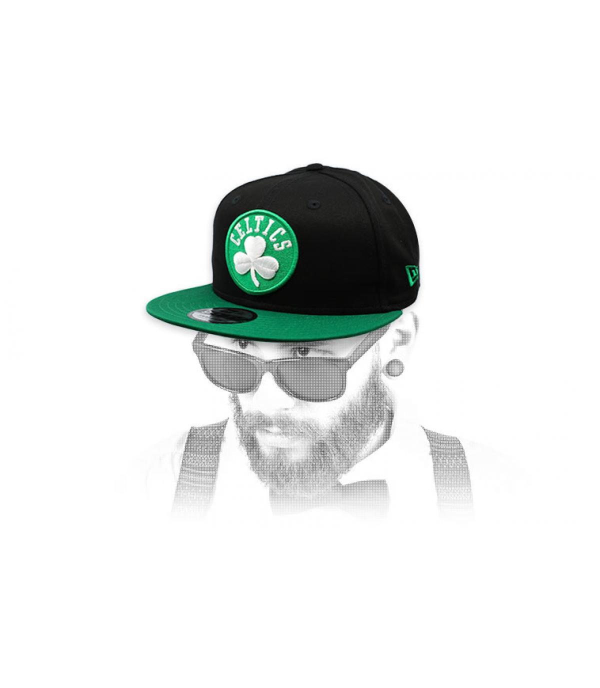 snapback Celtics verde negro