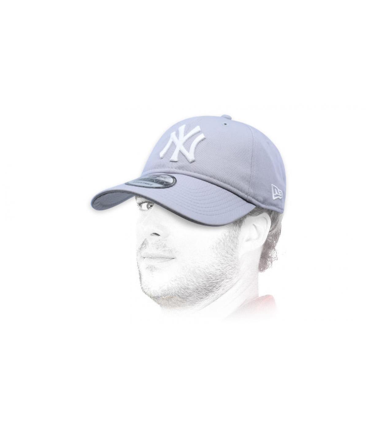 gorra NY gris plegable