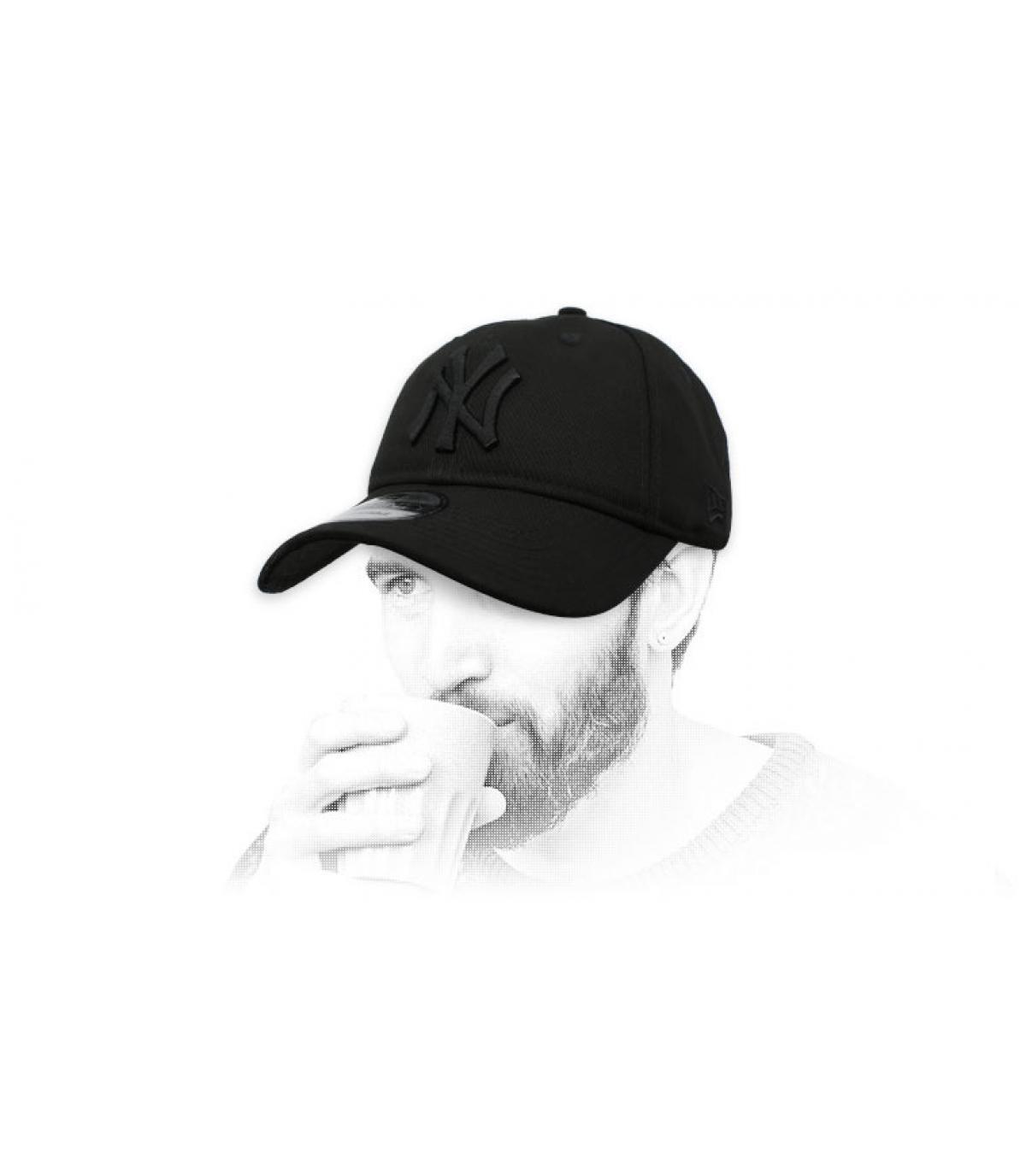 gorra NY negro plegable