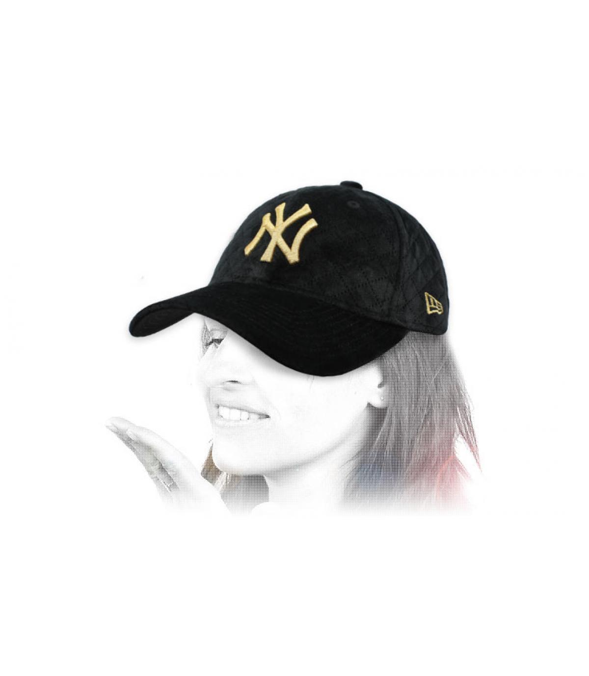 gorra mujer NY negro