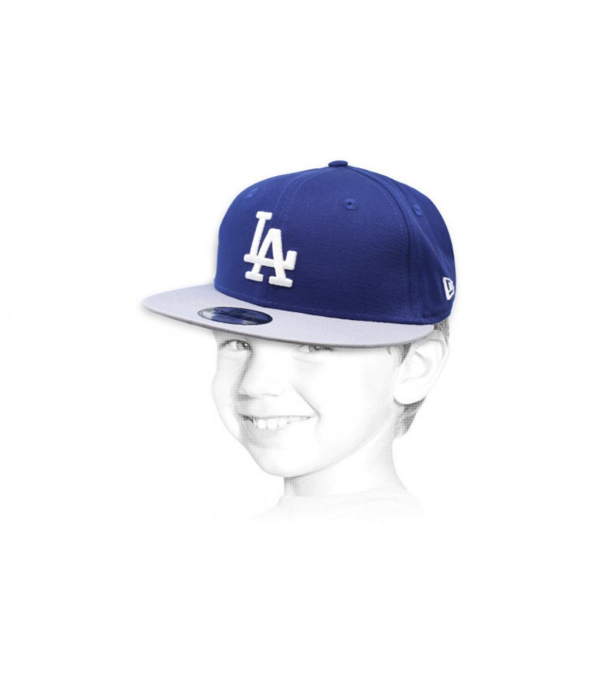 snapback LA niño gris azul