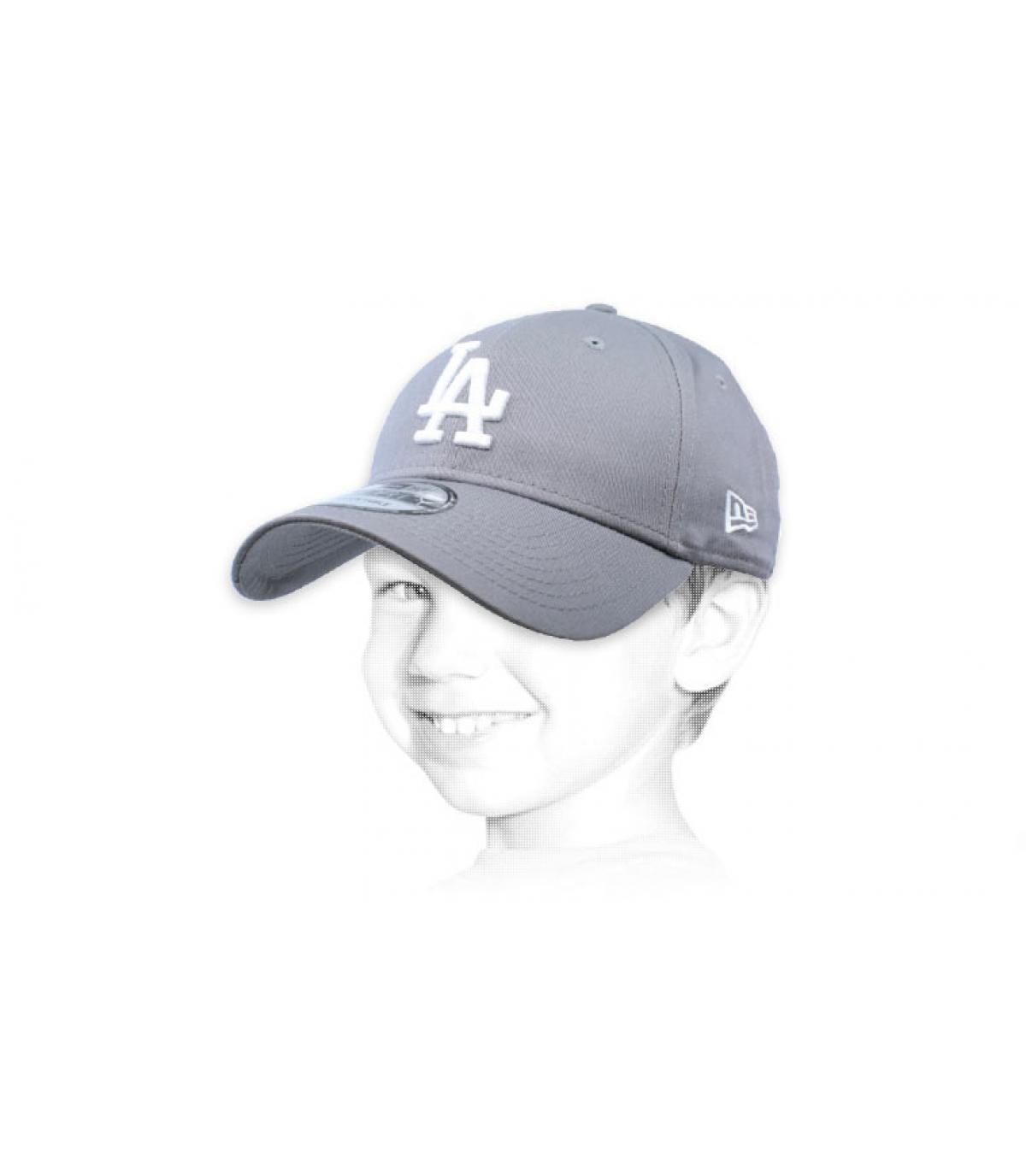 gorra LA niño gris