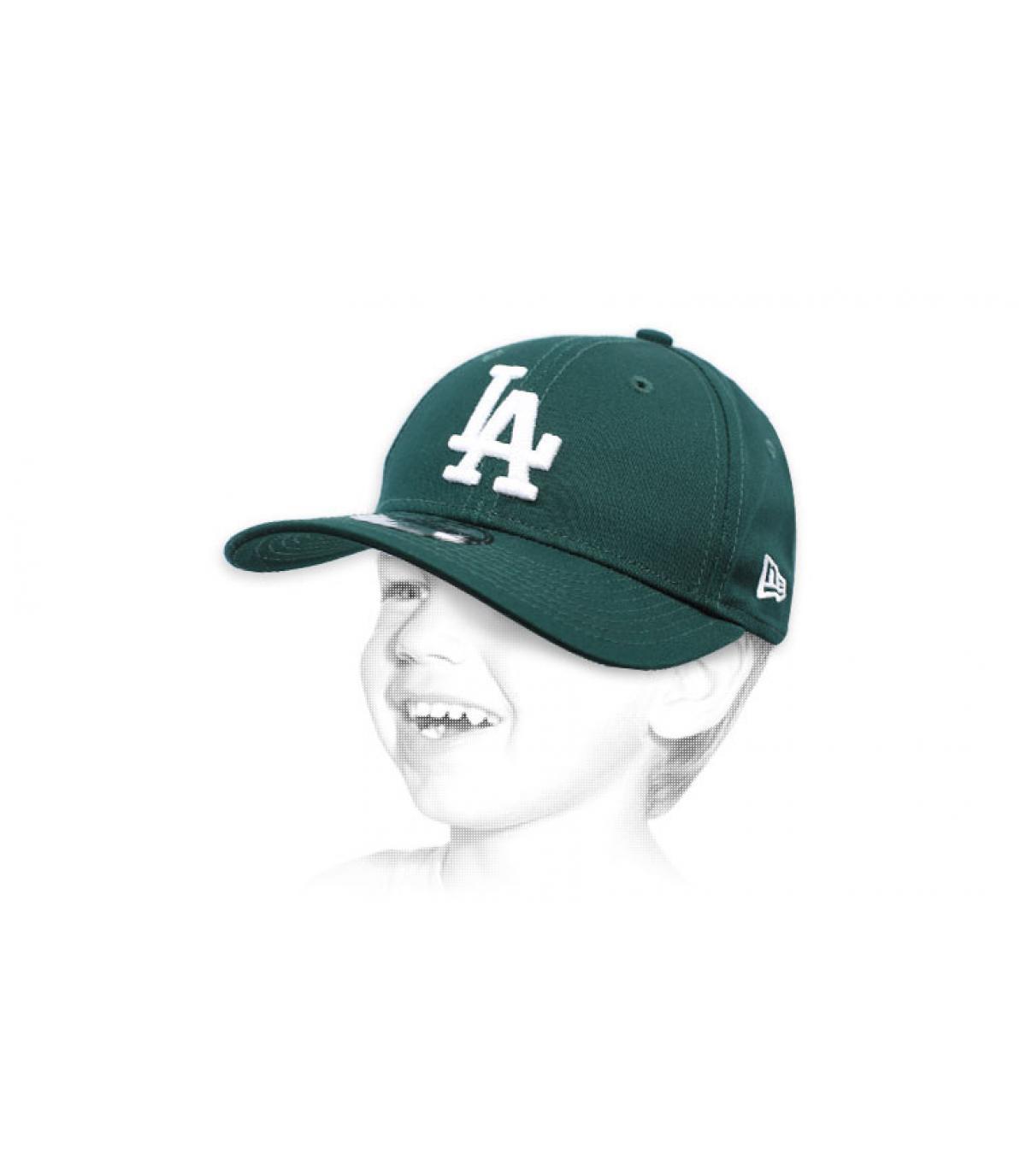 gorra niño LA verde