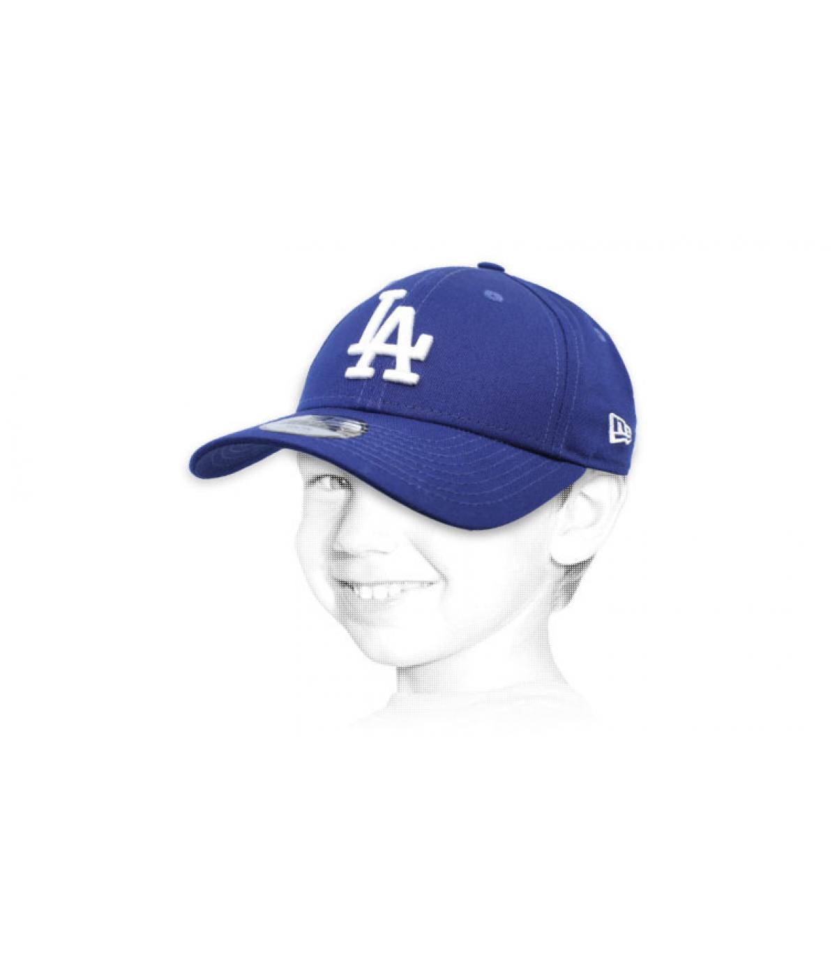 gorra niño LA azul