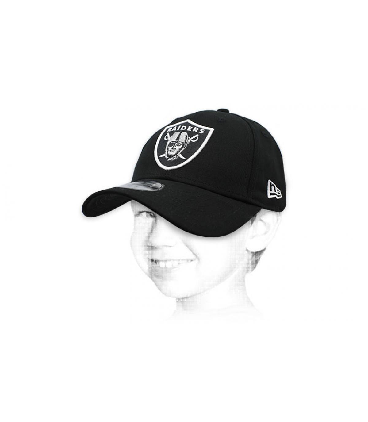 gorra niño Raiders negro