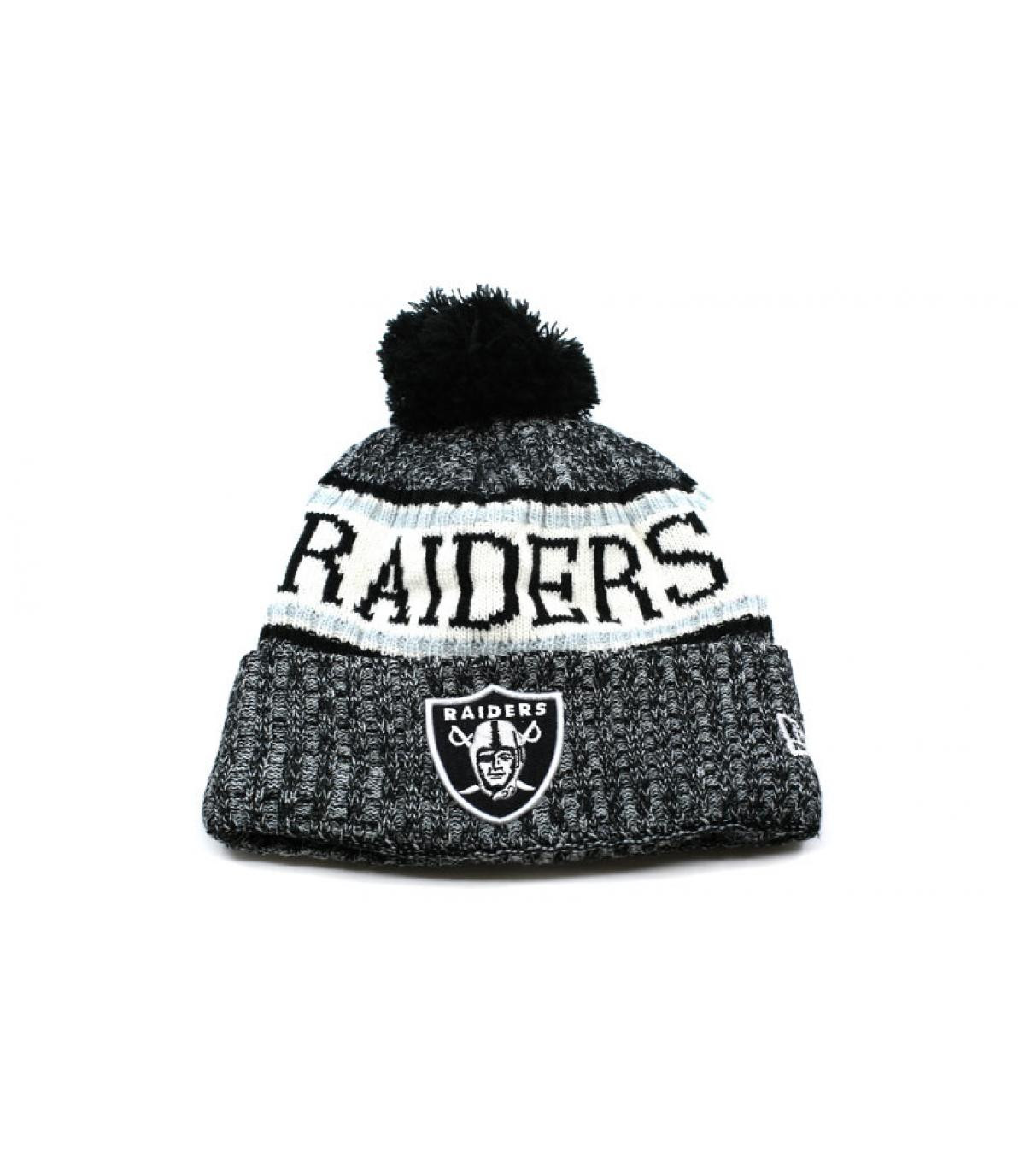 gorro Raiders pompón gris - NFL Sideline Sport Knit Raiders de New ... 03966a739de