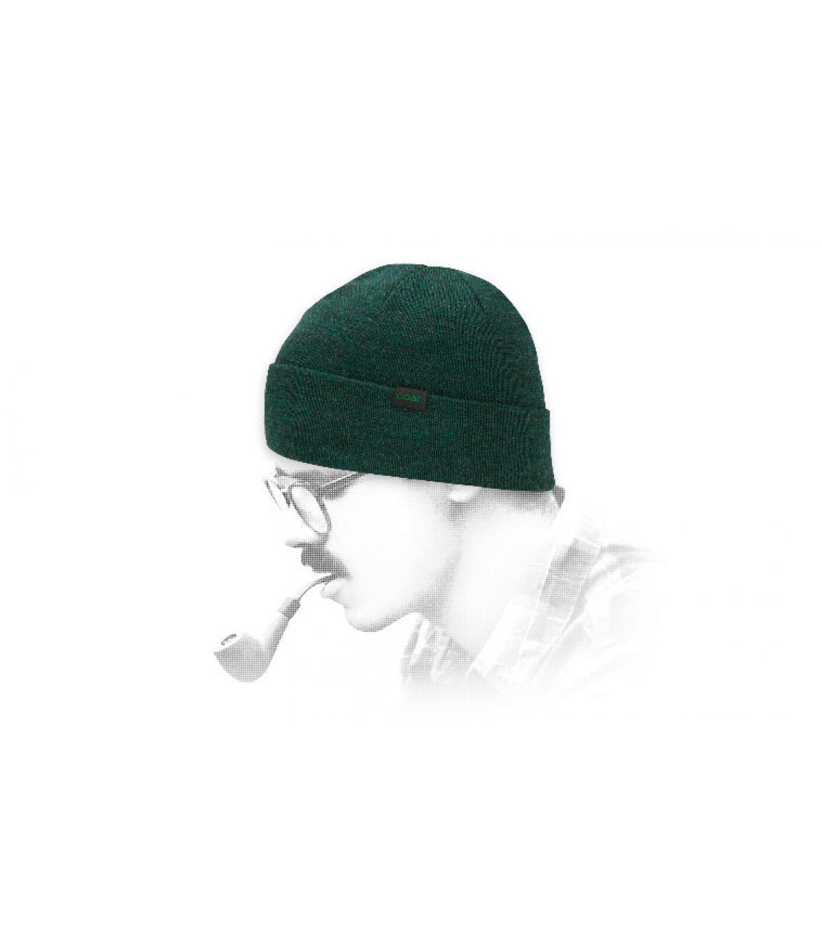 gorro Coal lana verde