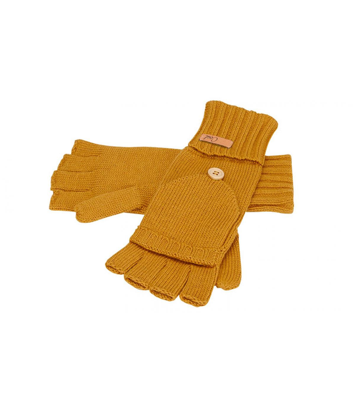 guantes manoplas amarillo mostaza