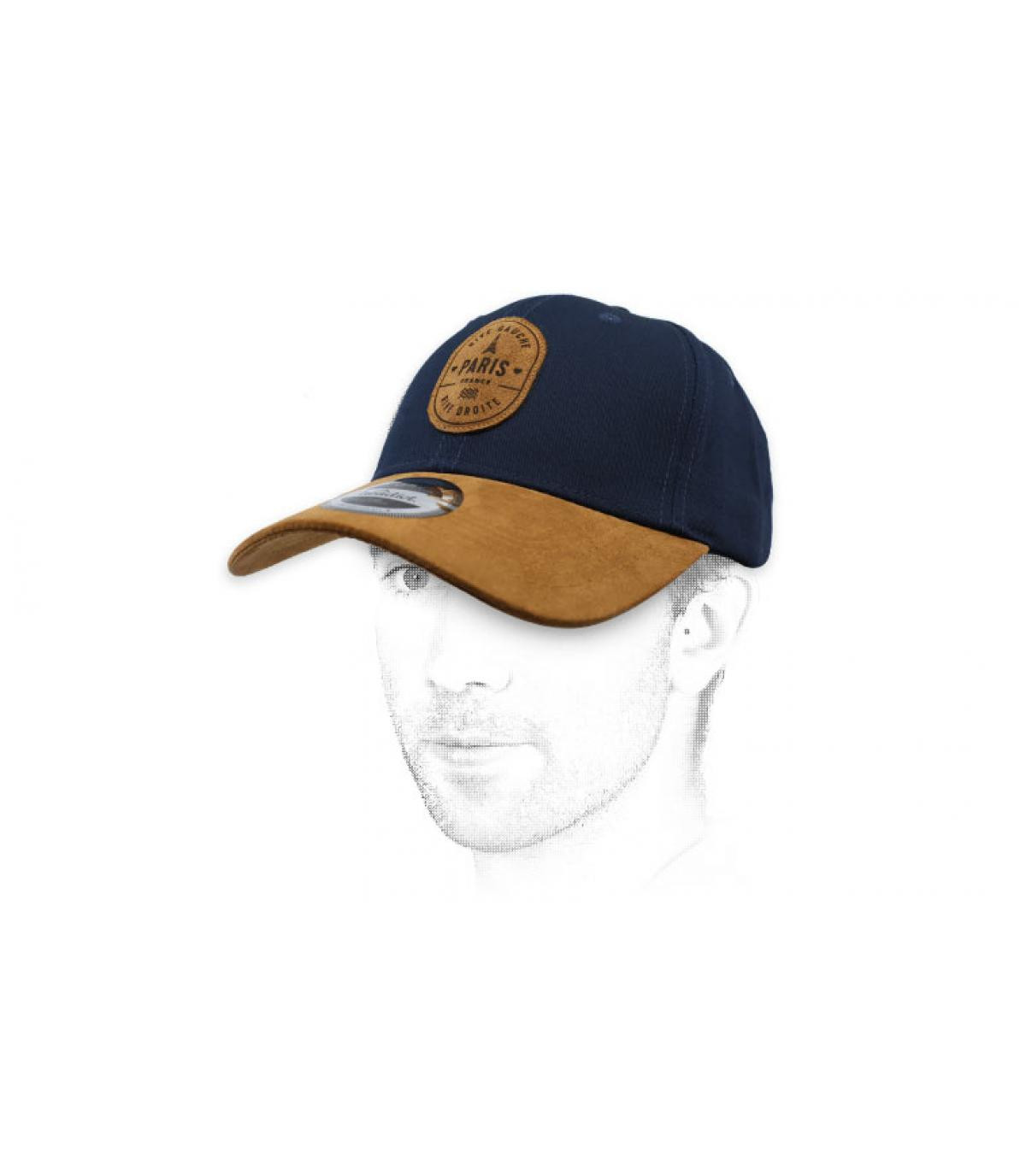 gorra Paris azul ante