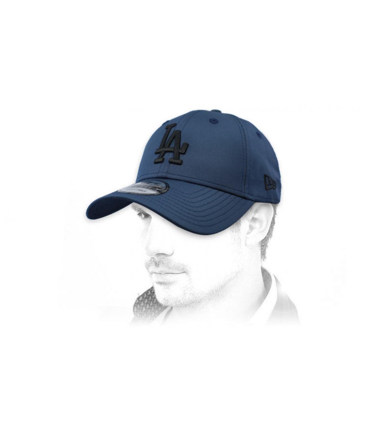 gorra LA azul negro