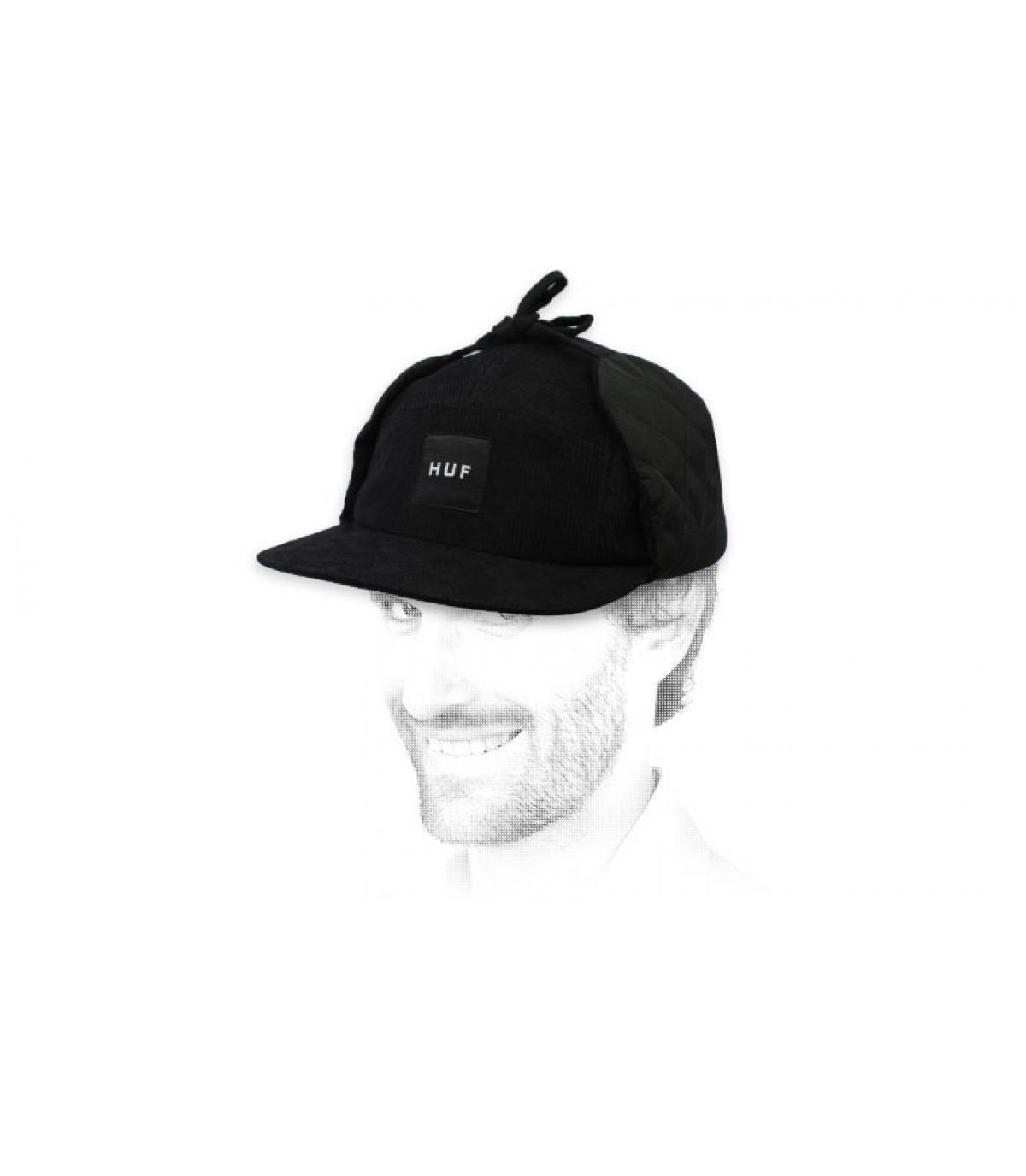 5 panel negro Huf orejera